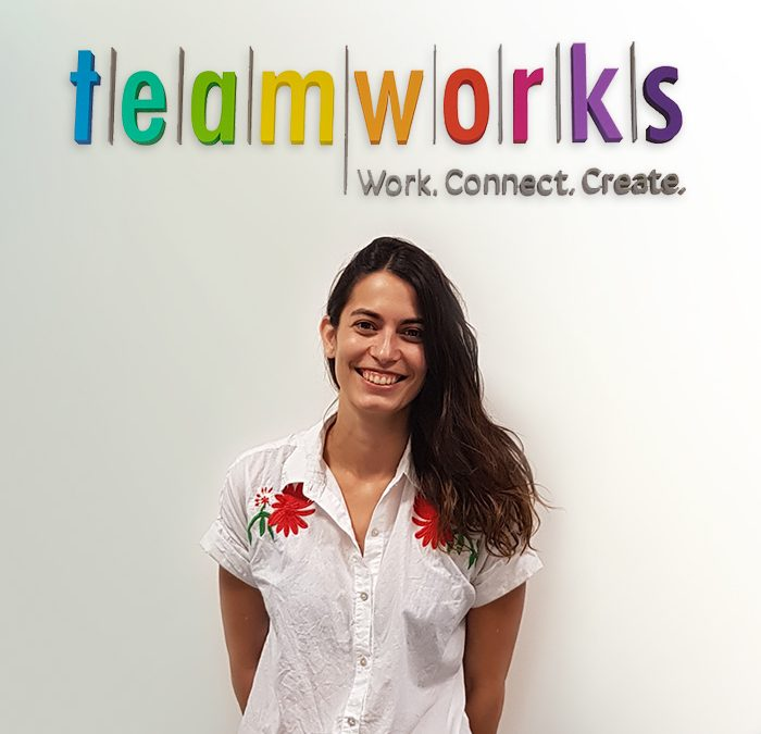 Celina Strassera brings her freelance project to Teamworks